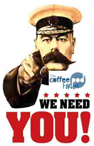 Coffee Pod Forum We Need You